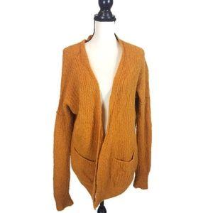 Free People Mustard Yellow Alpaca Sweater